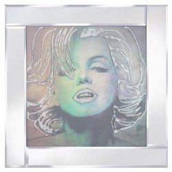 Marilyn Monroe on Mirrored Frame Mirror Frame Picture with Glitter Liqud Galss Wall Art