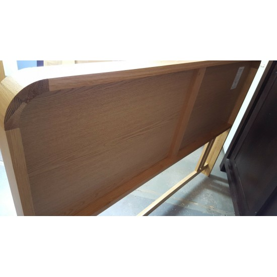Bentley Designs Capri Oak Wood Headboard Cream Faux Leather 150cm RRP£275