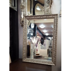 John Lewis Constantina Antique Ornate French Bevelled Wall Mirror Gilt Finish Champagne Silver 90x65cm
