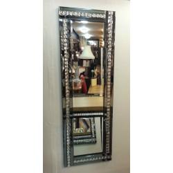 Full Length ArtDeco Acrylic Crystal Glass Design Bevelled Mirror 120x40cm Smoked