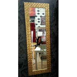 John Lewis Full Length Mosaic Wall Mirror Bevelled Glass Antique Gold 132x46cm