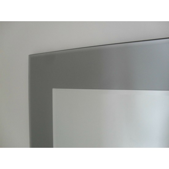 Marietta Rectangular Wall Mirror Grey Smoked Glass 100x75cm
