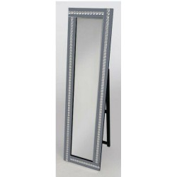 Cheval Acrylic Crystal Glass Design Bevelled Standing Mirror 40x150cm Smoked