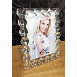 Floral Crystal Glass Photo Picture Frame Size 5x7(13x18cm) Modern Design