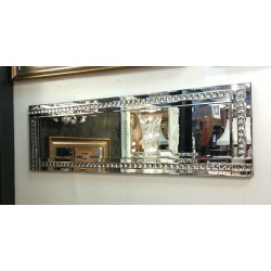 Full Length ArtDeco Acrylic Crystal Glass Design Bevelled Mirror 120x40cm Clear