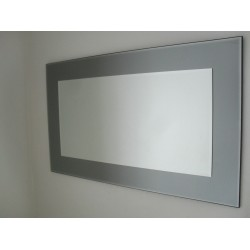 John Lewis Marietta Rectangular Wall Mirror RRP£195 100x61cm Grey / Smoked Glass