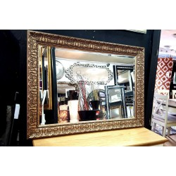 John Lewis Constantina Antique Ornate Bevelled Wall Mirror Gilt Finish French Frame Gold 90x65cm